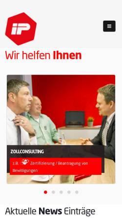 Vorschau der mobilen Webseite www.import-partner.de, Import Partner Int. Zollspedition GmbH