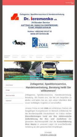Vorschau der mobilen Webseite www.dmk-tek.de, DMK TEK Zollagentur und Handelsvertretung