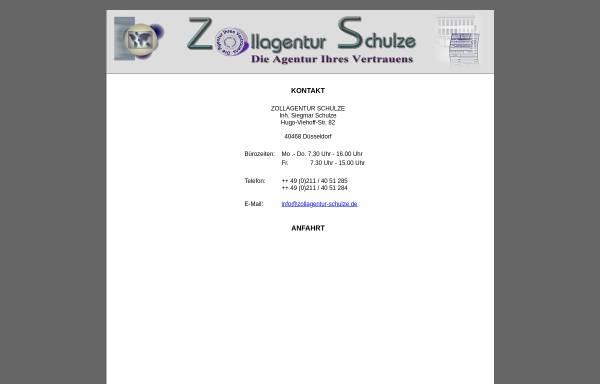 Vorschau von www.zollagentur-schulze.de, Zollagentur Schulze - Inh. Siegmar Schulze