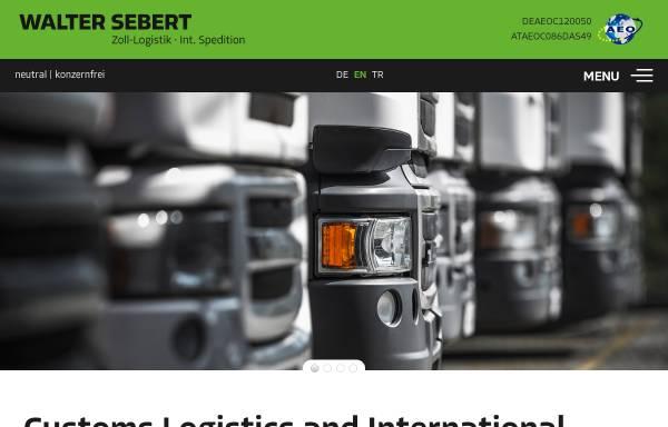 Vorschau von www.sebert.at, Internationale Spedition Walter Sebert GmbH