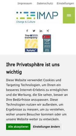 Vorschau der mobilen Webseite www.imap-institut.de, Institut für interkulturelle Management- und Politikberatung
