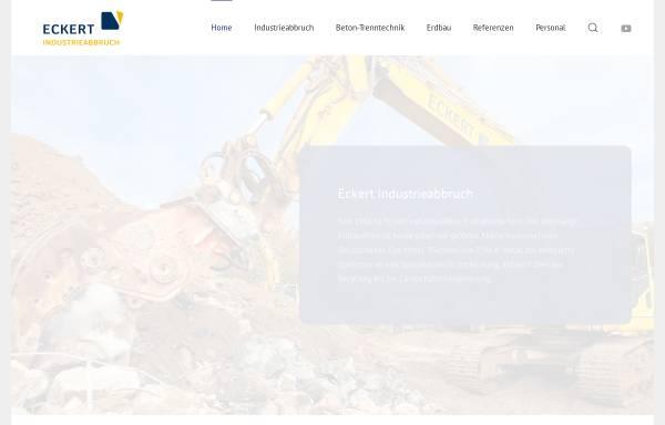Vorschau von www.eckert-abbruch.de, Erdbau und Industrieabbruch GmbH