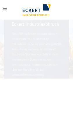 Vorschau der mobilen Webseite www.eckert-abbruch.de, Erdbau und Industrieabbruch GmbH