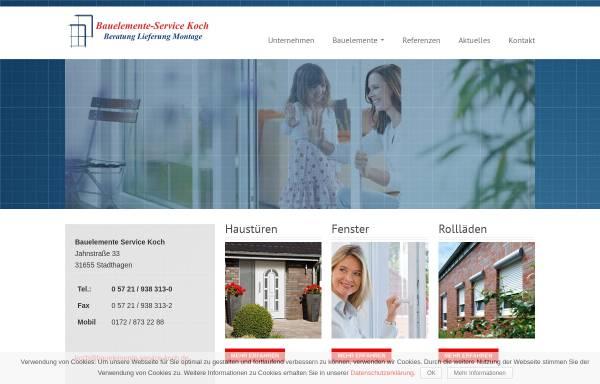 Vorschau von bauelemente-service-koch.de, Bauelemente Service Koch - Inh. Thomas Koch