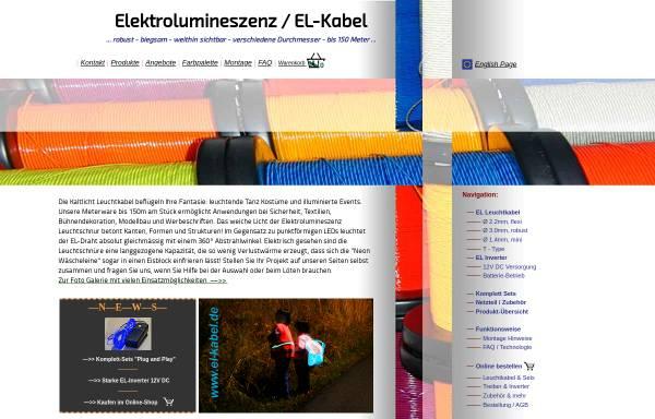 Vorschau von www.el-kabel.de, EL-Kabel.de - Engineering Services Dipl.-Ing. M. Eickhoff
