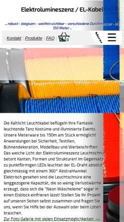 Vorschau der mobilen Webseite www.el-kabel.de, EL-Kabel.de - Engineering Services Dipl.-Ing. M. Eickhoff