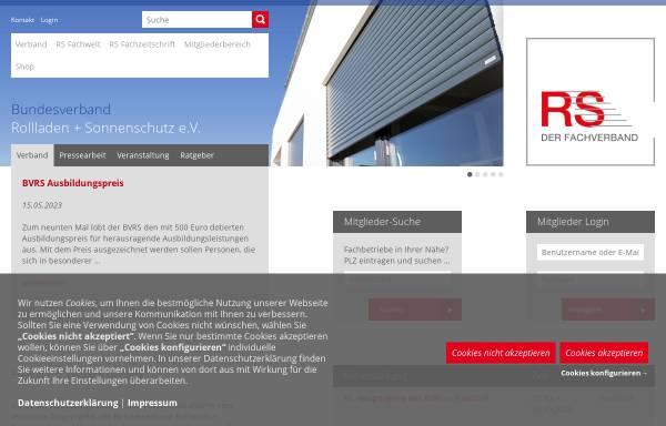 Vorschau von www.rs-fachverband.de, Bundesverband Rollladen + Sonnenschutz e.V. (BVRS)