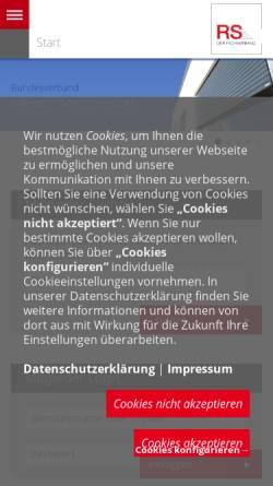 Vorschau der mobilen Webseite www.rs-fachverband.de, Bundesverband Rollladen + Sonnenschutz e.V. (BVRS)