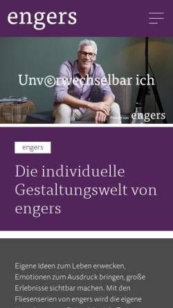 Vorschau der mobilen Webseite www.engerskeramik.de, Engers Keramik GmbH & Co. KG