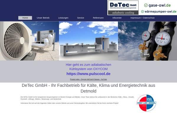 Vorschau von www.de-tec.net, DeTec GmbH