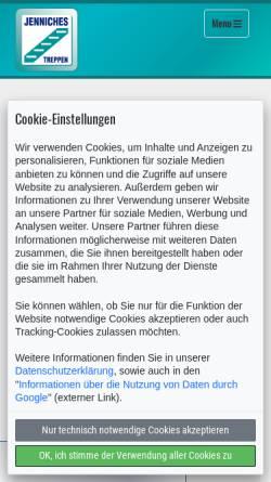 Vorschau der mobilen Webseite www.jenniches-treppen.de, Jenniches Treppen