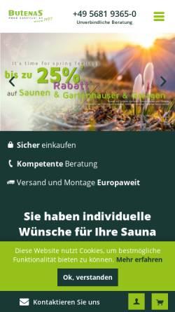 Vorschau der mobilen Webseite www.butenas.de, Butenas Holzbauten e.K.