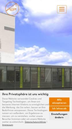 Vorschau der mobilen Webseite www.eggert-architekten.de, AEP Architekten Eggert Generalplaner GmbH