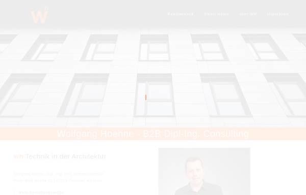 Vorschau von www.wolfganghoehne.com, Dipl.-Ing. (FH) Innenarchitektur Wolfgang Höhne