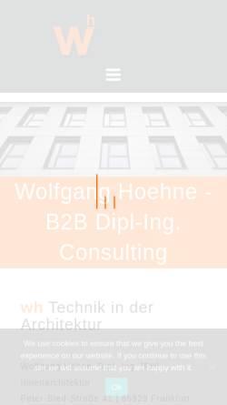 Vorschau der mobilen Webseite www.wolfganghoehne.com, Dipl.-Ing. (FH) Innenarchitektur Wolfgang Höhne