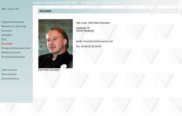 Vorschau von www.dometeit-partner.de, Ingenieurgemeinschaft Dometeit + Partner GbR