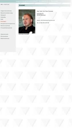 Vorschau der mobilen Webseite www.dometeit-partner.de, Ingenieurgemeinschaft Dometeit + Partner GbR