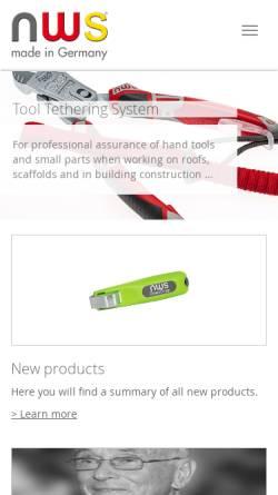 Vorschau der mobilen Webseite www.nws-tools.de, NWS Germany Produktion W. Nöthen e.K.