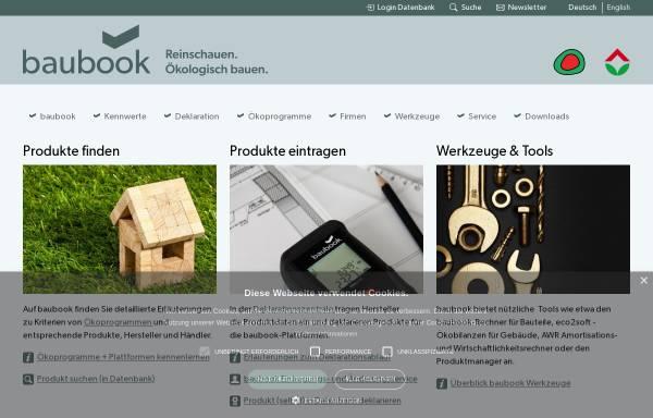 Vorschau von www.baubook.at, baubook GmbH