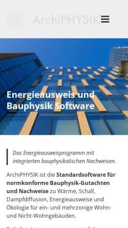 Vorschau der mobilen Webseite archiphysik.at, ArchiPhysik