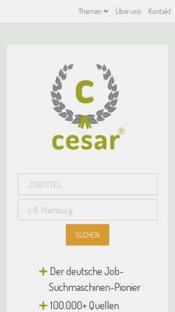 Vorschau der mobilen Webseite www.cesar.de, Cesar Internetdienste GmbH