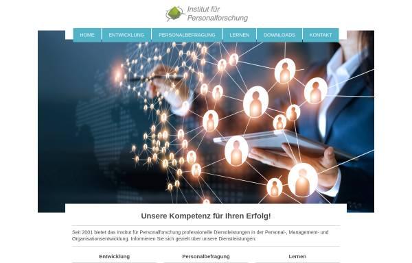 Vorschau von www.personalforschung.de, Institut für Personalforschung - Prof. Dr. Christian Ernst