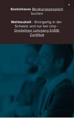 Vorschau der mobilen Webseite www.cm-p.ch, Change Management Partner AG