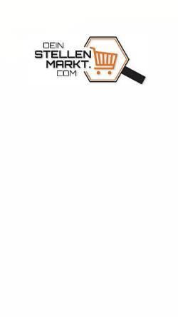 Vorschau der mobilen Webseite www.dein-stellenmarkt.com, Dein-Stellenmarkt.com