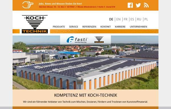 Vorschau von www.koch-technik.com, Werner Koch Maschinentechnik GmbH