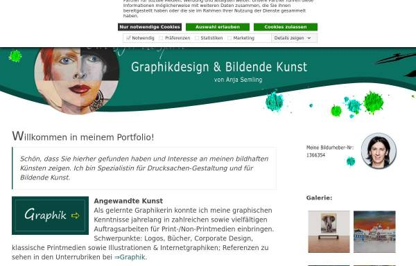 Vorschau von www.viskom-semling.de, Anja Semling - Grafikerin