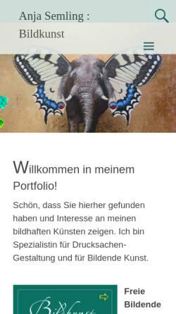 Vorschau der mobilen Webseite www.viskom-semling.de, Anja Semling - Grafikerin