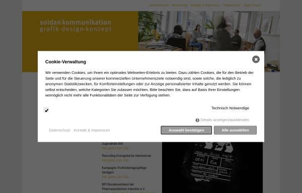 Vorschau von www.soldan-kommunikation.de, Soldan Kommunikation