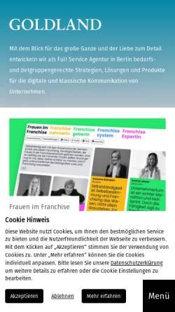 Vorschau der mobilen Webseite www.goldland-media.com, Goldland Media GmbH