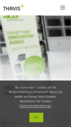 Vorschau der mobilen Webseite thavis.com, THAVIS GmbH & Co. KG
