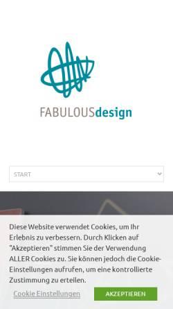 Vorschau der mobilen Webseite fabulousdesign.de, FABULOUSdesign, Julia Arens
