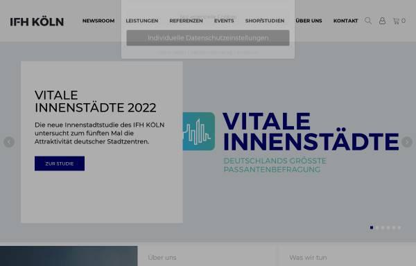 Vorschau von www.ifhkoeln.de, E-Commerce-Center Köln, IFH Institut für Handelsforschung GmbH