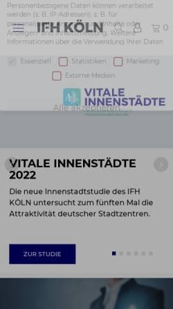 Vorschau der mobilen Webseite www.ifhkoeln.de, E-Commerce-Center Köln, IFH Institut für Handelsforschung GmbH