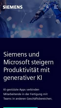 Vorschau der mobilen Webseite www.siemens.com, Siemens AG