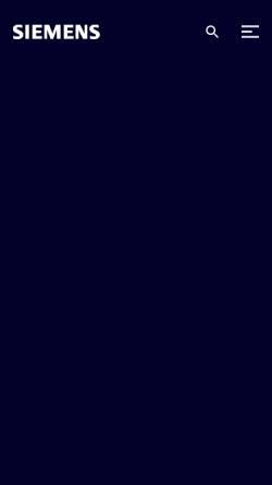 Vorschau der mobilen Webseite www.siemens.com, Siemens AG Österreich