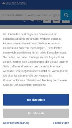 Vorschau der mobilen Webseite www.stecker-express.de, Stecker Express GmbH