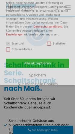 Vorschau der mobilen Webseite www.lippert-box.de, Anton Lippert GmbH