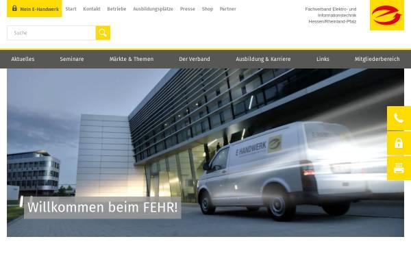 Vorschau von www.liv-fehr.de, Fachverband Elektro- und Informationstechnik Hessen/Rheinland-Pfalz (FEHR)
