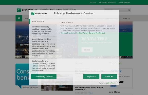 Vorschau von www.bnpparibas.de, Consorsbank - BNP Paribas S.A. Niederlassung Deutschland
