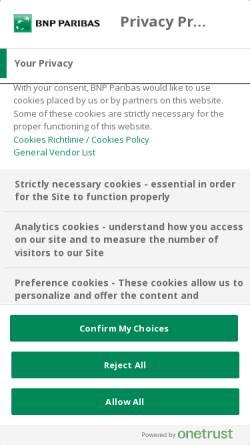 Vorschau der mobilen Webseite www.bnpparibas.de, Consorsbank - BNP Paribas S.A. Niederlassung Deutschland