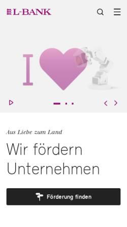 Vorschau der mobilen Webseite www.l-bank.de, L-Bank