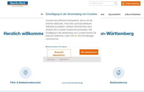 Vorschau von www.sparda-bw.de, Sparda-Bank Baden-Württemberg