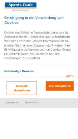 Vorschau der mobilen Webseite www.sparda-bw.de, Sparda-Bank Baden-Württemberg