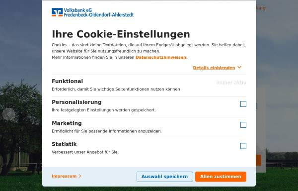 Vorschau von www.vbfo.de, Volksbank Fredenbeck-Oldendorf