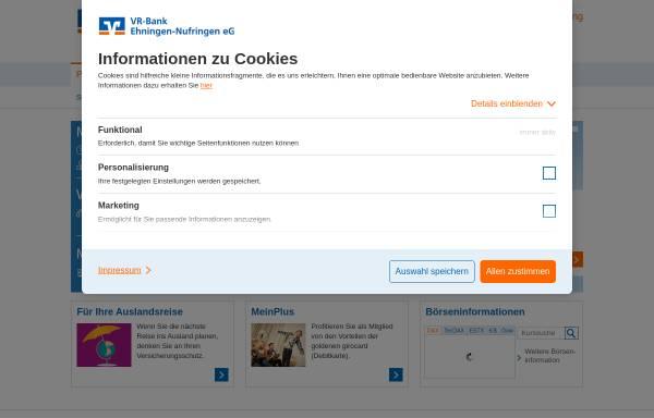 Vorschau von www.ehninger-bank.de, Ehninger Bank eG