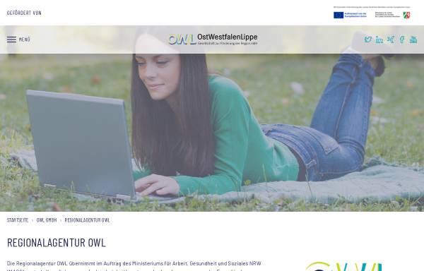 Vorschau von www.regionalagentur-owl.de, Regionalagentur OWL